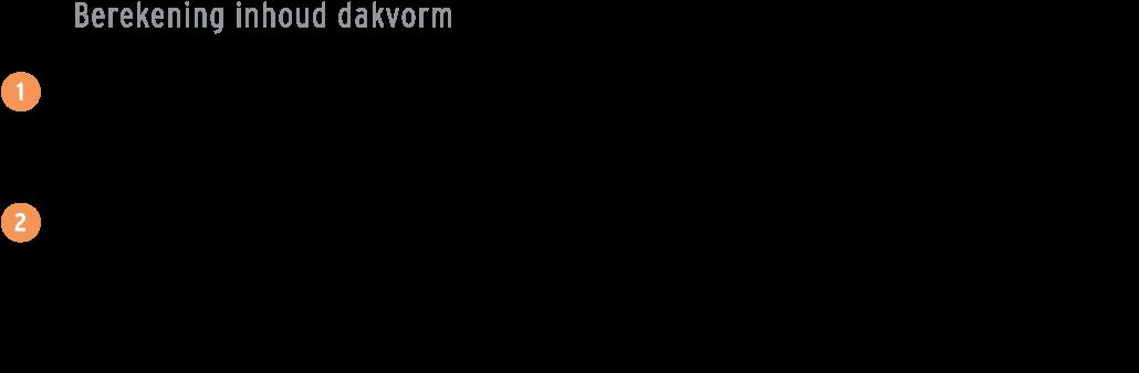 formule-inhoud-berekenen-doorgeschoten-dak