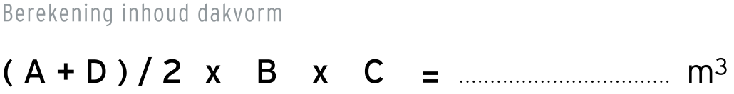 formule-inhoud-berekenen-afgeknot-lessenaarsdak